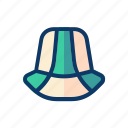 hat, holiday, party, summer, travel, vacation icon