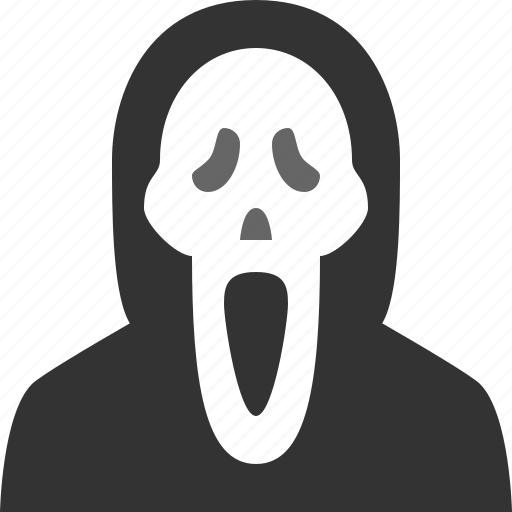 dead, ghost, halloween, mask, scream icon