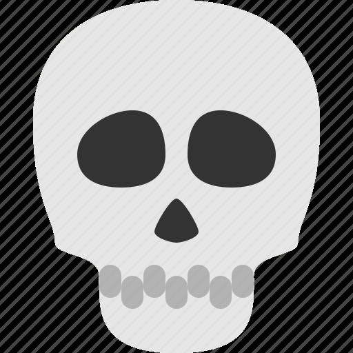 creepy, dead, die, halloween, skull icon