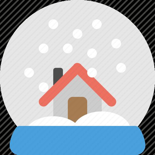 globe, home, house, snow, snowglobe, winter icon
