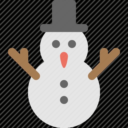 chrisstmas, fun, play, snowman icon