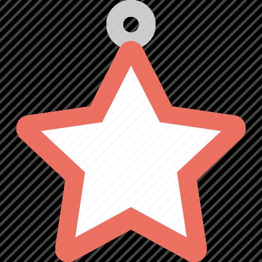 badge, christmas, oranament, star icon
