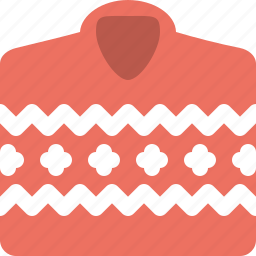 cloth, men, red, sweater icon