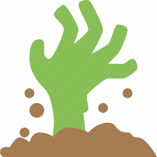 alien, green, halloween, hand, zombie icon