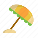 beach, beach umbrella, rain, shade, summer, umbrella, vacation icon