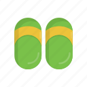 beach, casual, flip flop, footwear, sandal, slippers, summer icon