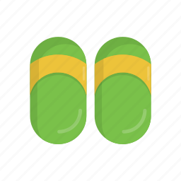 beach, casual, flip flop, footwear, sandal, slippers, summer icon