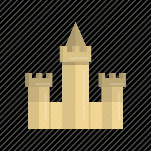 beach, building, castle, fantasy, kingdom, sand, sandcastle icon