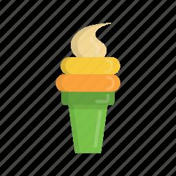beach, cone, dessert, food, ice, ice cream, summer icon