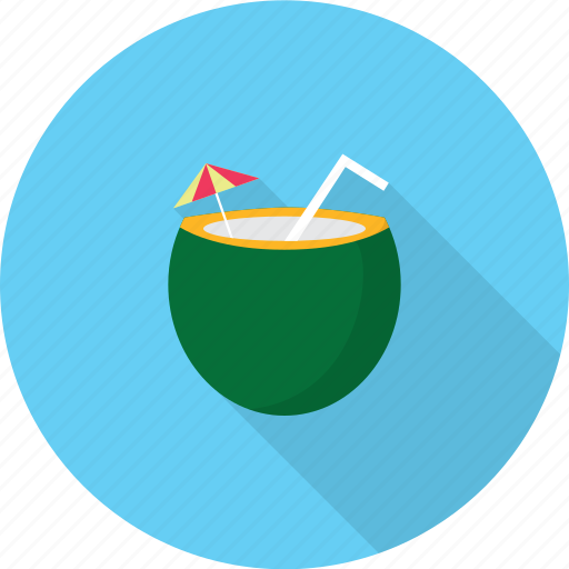 coconut, holiday, recreations icon