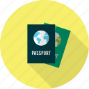 holiday, passport, recreations icon