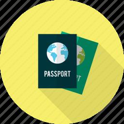 holiday, passport, recreations icon