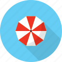 holiday, recreations, umbrella icon