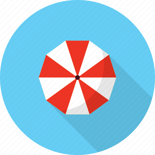 holiday, recreations, umbrella icon
