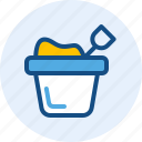 bucket, celebration, holiday, sand icon