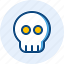 celebration, halloween, holiday, skull icon