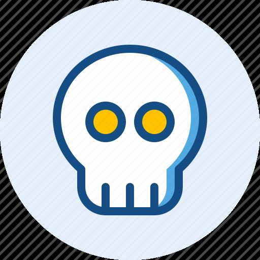 celebration, halloween, holiday, skull icon