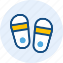 beach, celebration, holiday, slippers icon