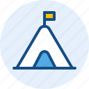 camp, celebration, holiday, tent icon