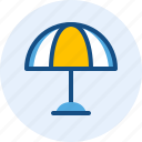 beach, celebration, holiday, umbrella icon