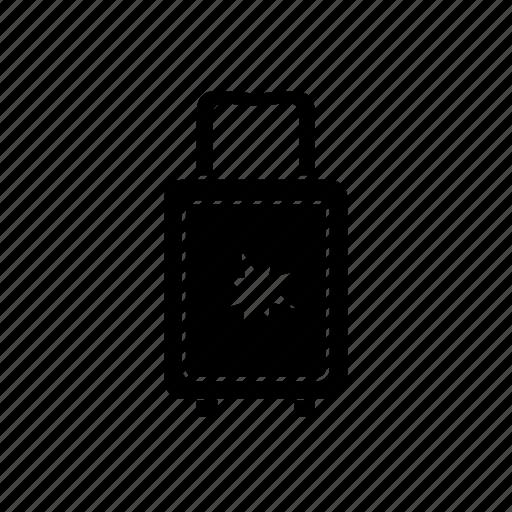 bag, baggage, luggage, luggage bag, travel, traveling bag, wheel suitcase icon icon