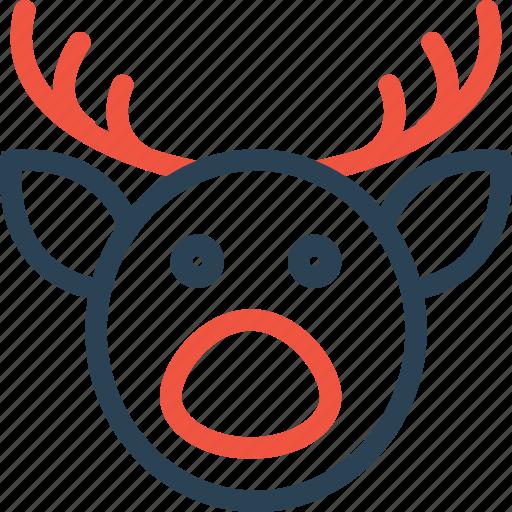 celebration, day, deer, halloween, holidays, xmas icon