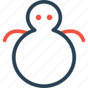 celebration, day, halloween, holidays, man, snow, xmas icon