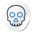 celebration, copy, festival, halloween, holidays, skull, xmas icon