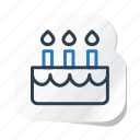 birthday, cake, celebration, festival, halloween, holidays, xmas icon