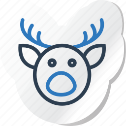 celebration, copy, deer, festival, halloween, holidays, xmas icon