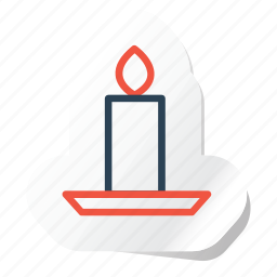 candle, celebration, festival, halloween, holidays, party, xmas icon