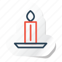 candle, celebration, festival, halloween, holidays, xmas icon