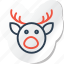 celebration, copy, deer, festival, halloween, holidays, xmas icon