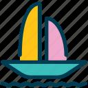 summer, boat, ship, sea, yacht, ocean