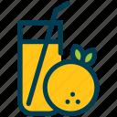 summer, orange, juice, drink, glass, beverage