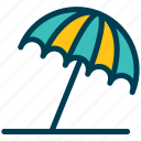 summer, umbrella, sunshade, beach
