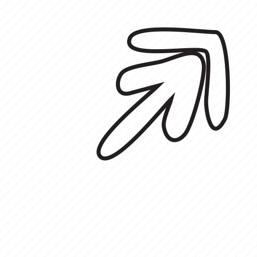 arrow, arrows, corner, direction, move, upload icon