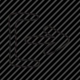 arrow, arrows, logout icon