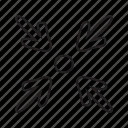 arrow, min, spot icon