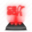 counterstrike, cs, global, go, hologram, red, strike icon