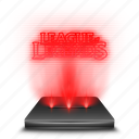 hologram, holographic, league, legends, lol, red icon