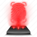 android, app, drawer, hologram, holographic, red icon