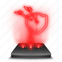 clans, clash, game, hologram, mobile, of, red icon