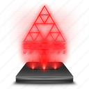 deus, ex, game, hologram, red, universe icon