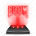 doom, game, hologram, holographic, red icon
