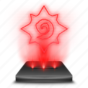 blizzard, game, hearthstone, hologram, red icon
