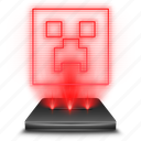 game, hologram, holographic, minecraft, red icon