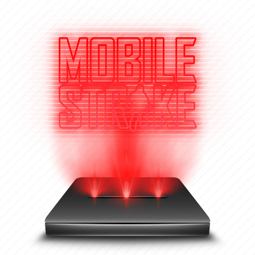 game, hologram, mobile, red, strike icon