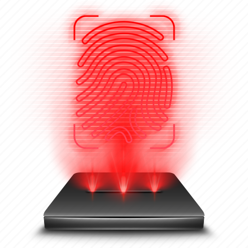 android, app, drawer, hologram, red icon
