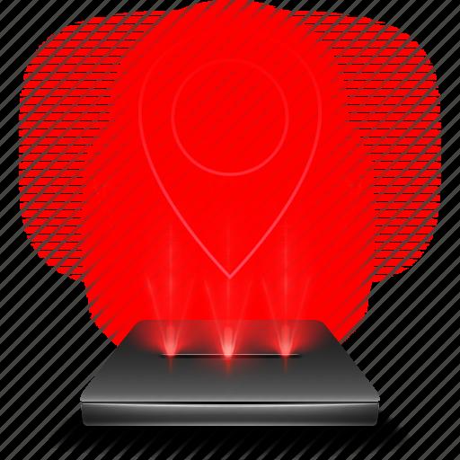 google, gps, hologram, localization, locate, maps icon